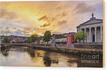 River Lee In Cork Wood Print by Daniel Heine
