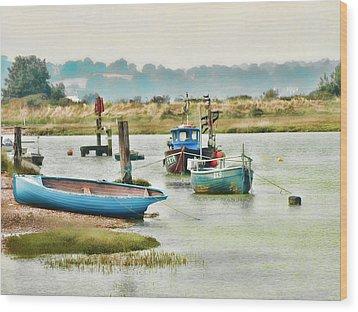 River Life Wood Print by Sharon Lisa Clarke