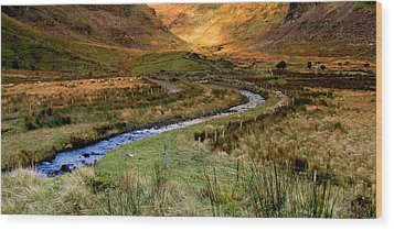 River Near Annascaul Lake In Kerry Wood Print