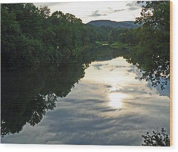 River Of Clouds Wood Print by Jean Hall