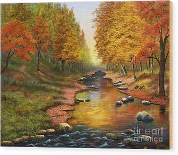 River Of Colors Wood Print by Sena Wilson