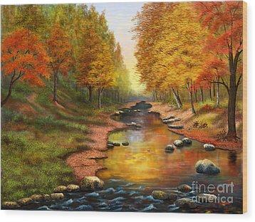 River Of Colors Wood Print