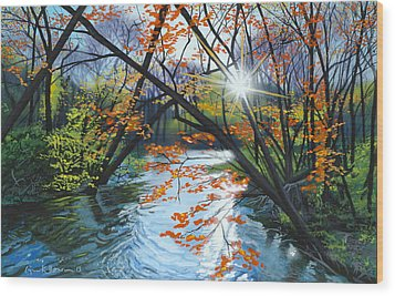 River Of Joy Wood Print by Lynn Hansen