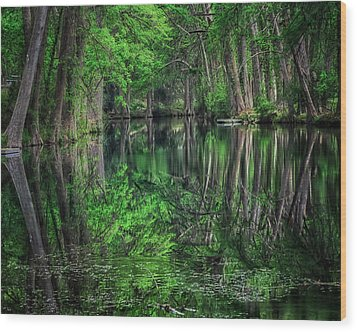 River Of Reflections Wood Print