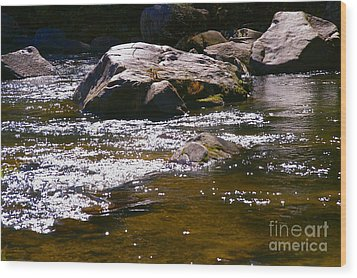River Reflections Wood Print by JW Hanley