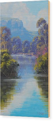 River Reflections Megalong Creek Wood Print by Graham Gercken