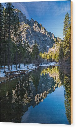 River Reflections Wood Print by Mike Lee