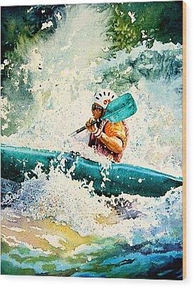 River Rocket Wood Print by Hanne Lore Koehler