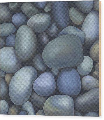 River Rocks Wood Print by Natasha Denger
