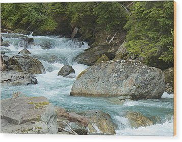 River Rocks Wood Print by Sylvia Hart