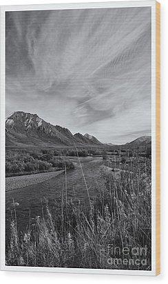 River Serenity Wood Print by Priska Wettstein