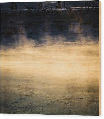 River Smoke Wood Print by Bob Orsillo