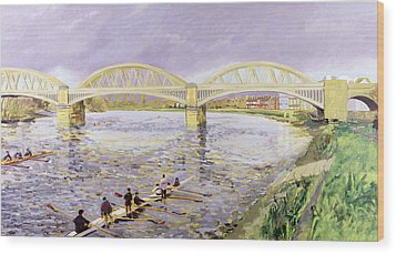 River Thames At Barnes Wood Print by Sarah Butterfield