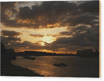 River Thames From Greenwich Wood Print