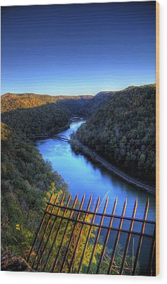 Wood Print featuring the photograph River Through A Valley by Jonny D
