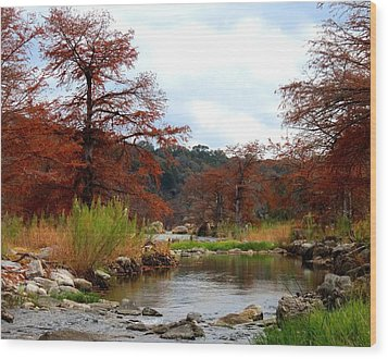 River Tranqulity Wood Print by David  Norman