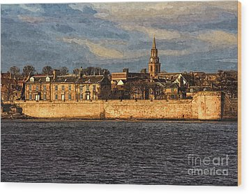 River Tweed At Berwick - Photo Art Wood Print