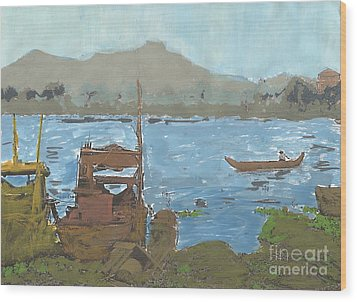 River View Wood Print by Brandy Magill