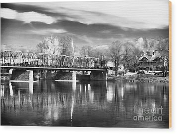 River View In New Hope Wood Print by John Rizzuto