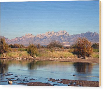 River View Mesilla Wood Print by Kurt Van Wagner