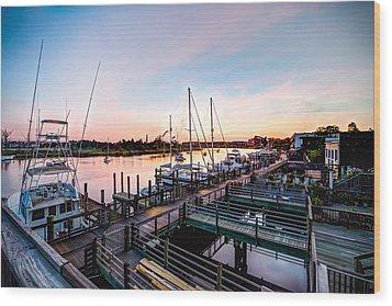River Walk In Georgetown Wood Print