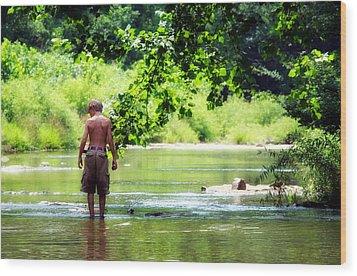 River Walk Wood Print by Tamara Gentuso