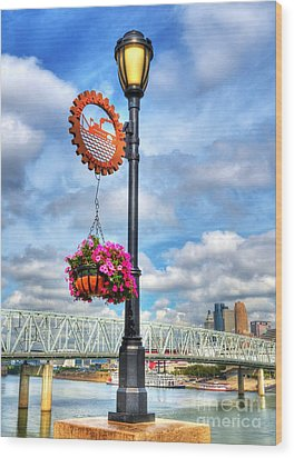 Riverboat Lamp Wood Print by Mel Steinhauer