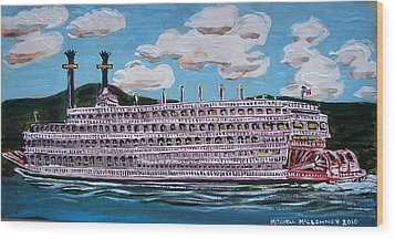 Riverboat Queen Wood Print by Mitchell McClenney