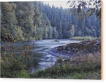 Riverflow At Dusk Wood Print by Belinda Greb