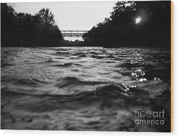 Wood Print featuring the photograph Rivers Edge by Michael Krek