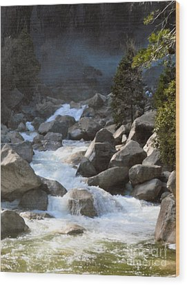 Rivers From The Mist Wood Print