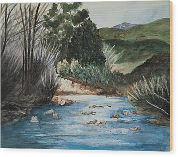 Riverscape Wood Print by Lee Beuther