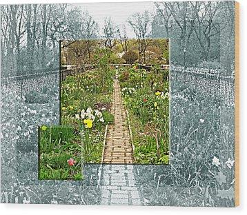 Riverside Garden Wood Print by Sarah McKoy