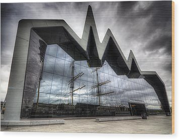 Riverside Museum Wood Print by Ross G Strachan
