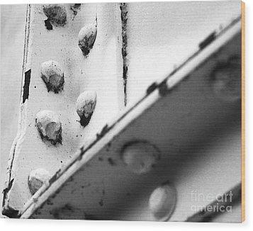 Riveting Wood Print by Jim Rossol