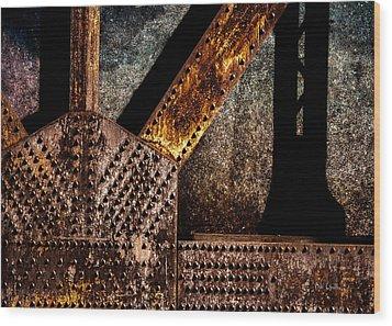 Rivets  Wood Print by Bob Orsillo