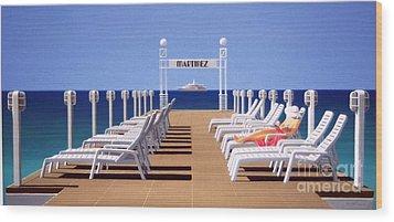 Riviera Dreaming Wood Print