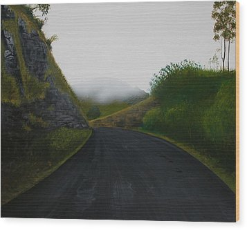 Road Near Gresford Nsw Wood Print