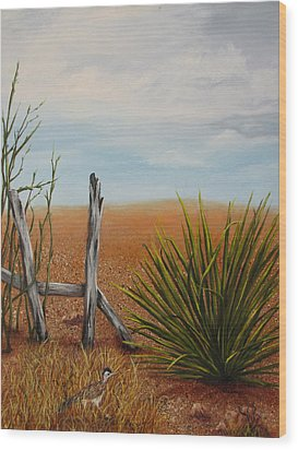 Road Runner Wood Print by Roseann Gilmore