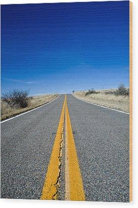 Road Through Sulphur Flats Wood Print by Jim DeLillo