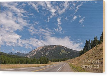Wood Print featuring the photograph Road To Big Sky Country by Charles Kozierok