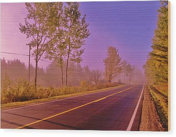 Wood Print featuring the photograph Road To... by Daniel Thompson