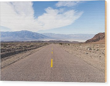 Road To Death Valley Wood Print by Muhie Kanawati