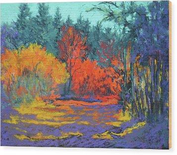 Wood Print featuring the painting Road To Deer Creek by Nancy Jolley