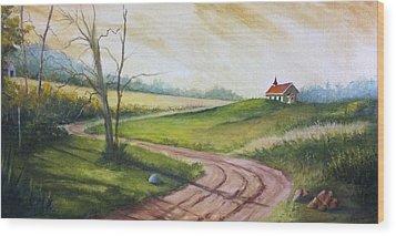 Road To Heaven  Wood Print by Jolyn Kuhn