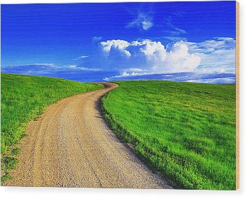 Road To Heaven Wood Print by Kadek Susanto