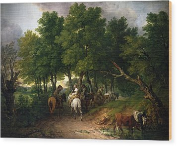 Road To Market Painting Wood Print by Thomas Gainsborough