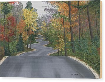 Road To Northport Wood Print