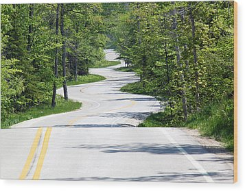 Road To Northport Wood Print by Kathy Weigman