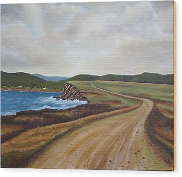 Road To Recovery Aka Cheticamp Ns Wood Print by Sharon Steinhaus